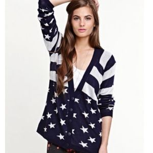 Kirra Stars and Stripes Button-Up Sweater Cardigan